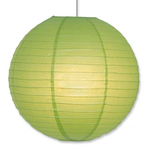 Asian Paper Lantern in Green 16""