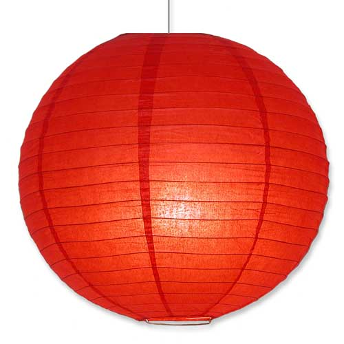 Japanese Paper Lantern in Red 16""