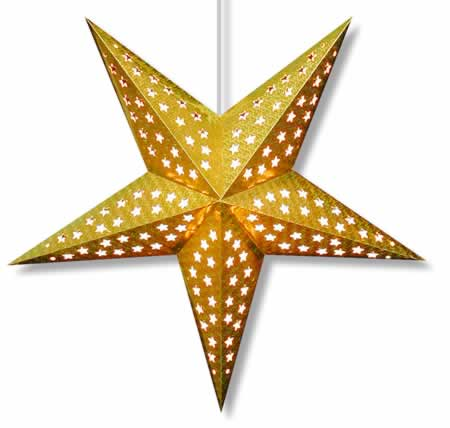 Hologram Star Lamp in Gold - Click Image to Close