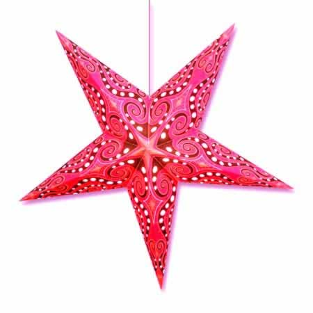 Magenta Nautilus Star Lamp - Click Image to Close