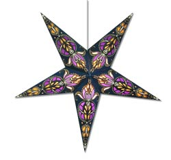 Whirligig Star Lamp in Blue