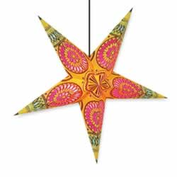 Yellow Mandala Star Lamp