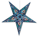 Celtic Star Lantern in Blue
